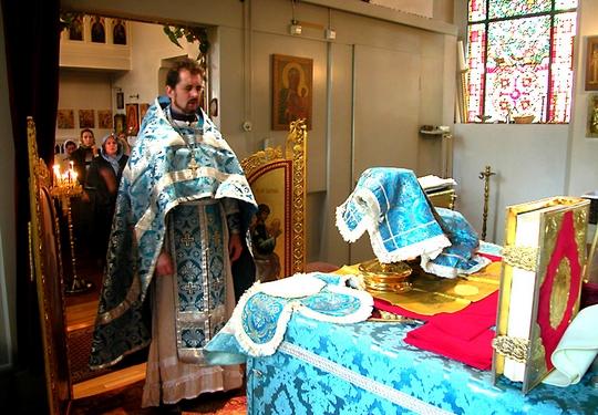 Divine Liturgy in an Orthodox Church.