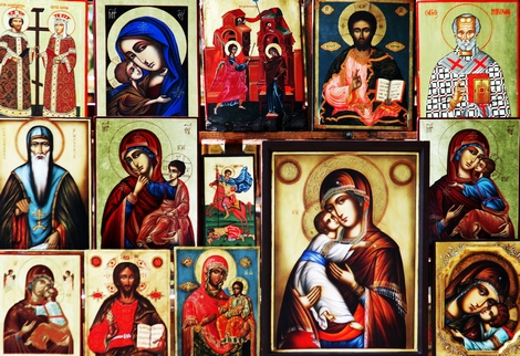 A selection of Orthodox icons.