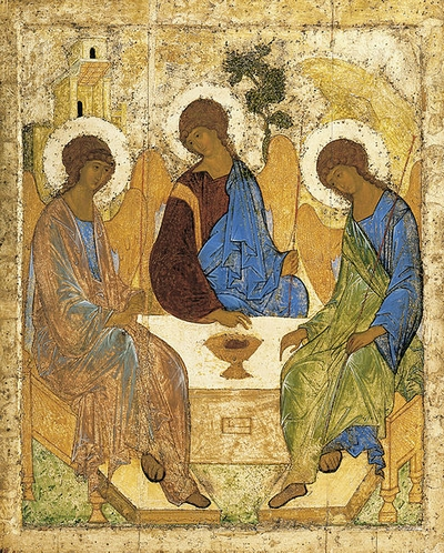 The Trinity, by Andrei Rublev (c. 1360-1430).